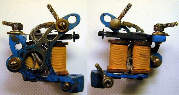 "BBB Iron J.Walker Tattoo Machine. by ""Bernhard "" hand made with silk wrap"